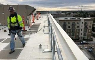 JE Dunn Hilmerson Safety Rail System Project Austin Texas