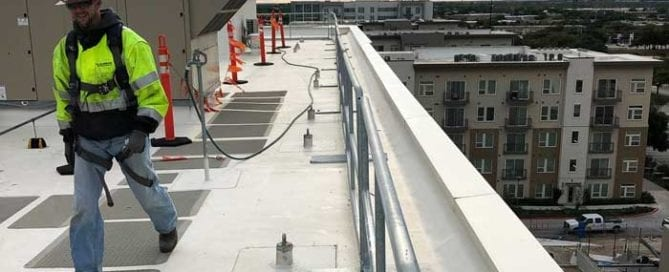 JE Dunn Hilmerson Safety Rail System Project Austin Texas