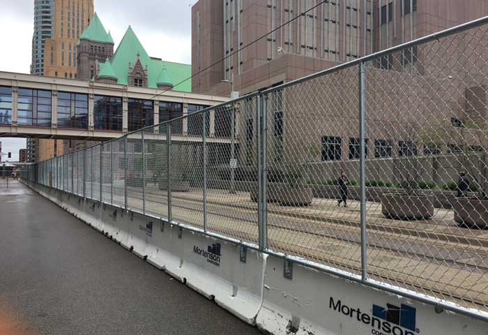 Hilmerson Barrier Fence System™ Minneapolis Mortenson Construction