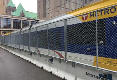 Minneapolis Minnesota Public Service Building Construction Safety Hilmerson Safety Barrier Fence System