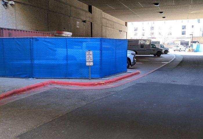 Hilmerson Temporary Fence System™️ Hospital Emergency Entrance