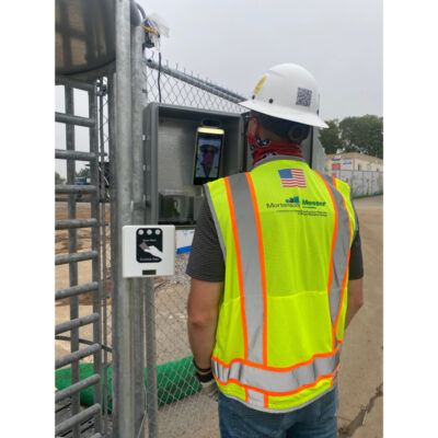 Construction Employee Checkpoint COVID Temperature and Mask Checker