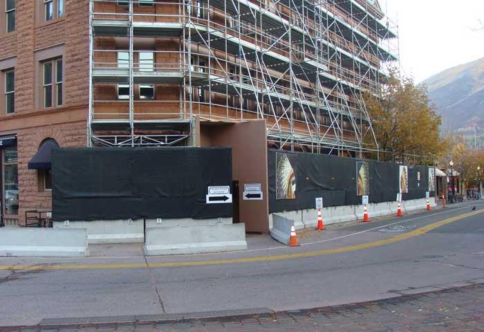 Wheeler Opera House Renovation Project - Aspen, Colorado - Hilmerson Barrier Fence System™