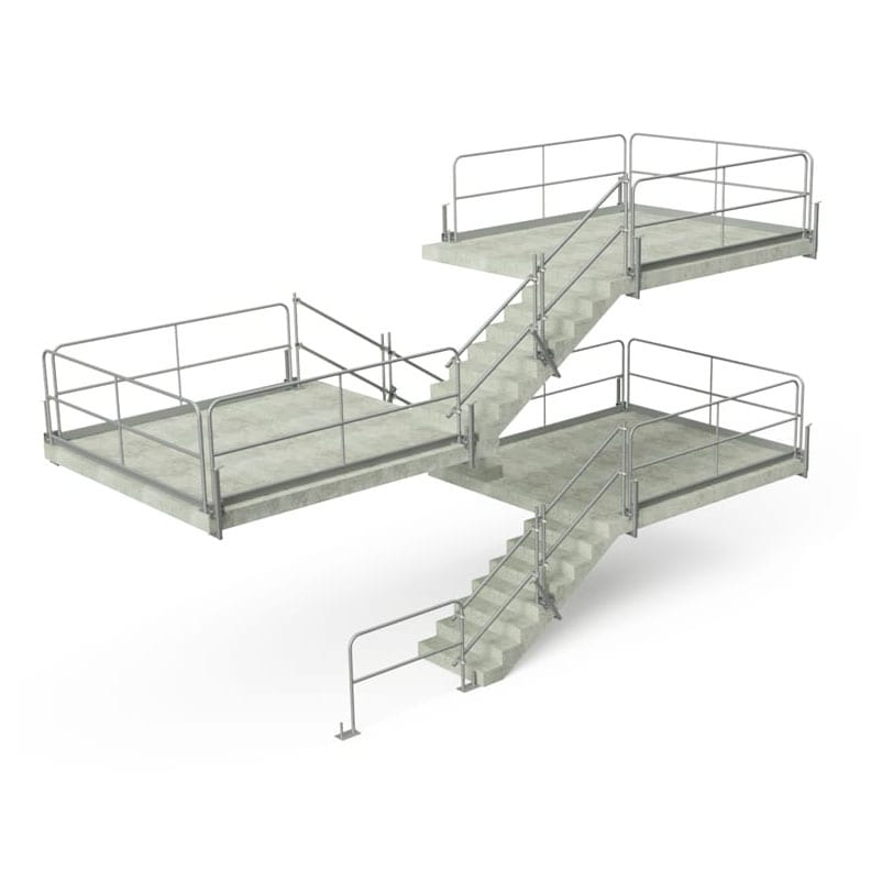 Temporary Guardrail Stair Protection & Slab Grabber Configurations