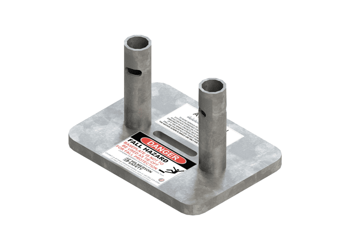 dual post base plate Hilmerson Safety
