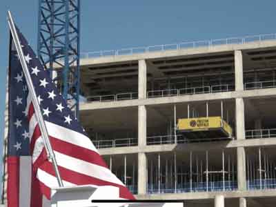 Hilmerson Safety Rail System™ at construction site American Made