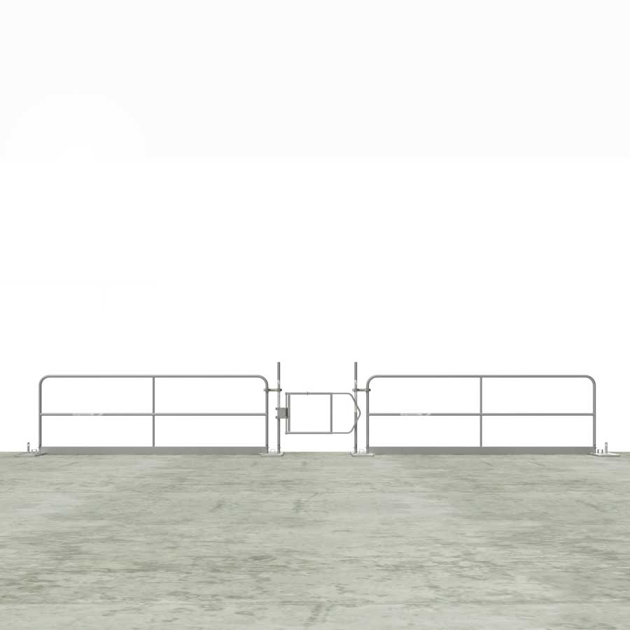 Clamp-On Adjustable Guardrail Gate -Guardrail Kits and Applications Hilmerson Safety Rail System™