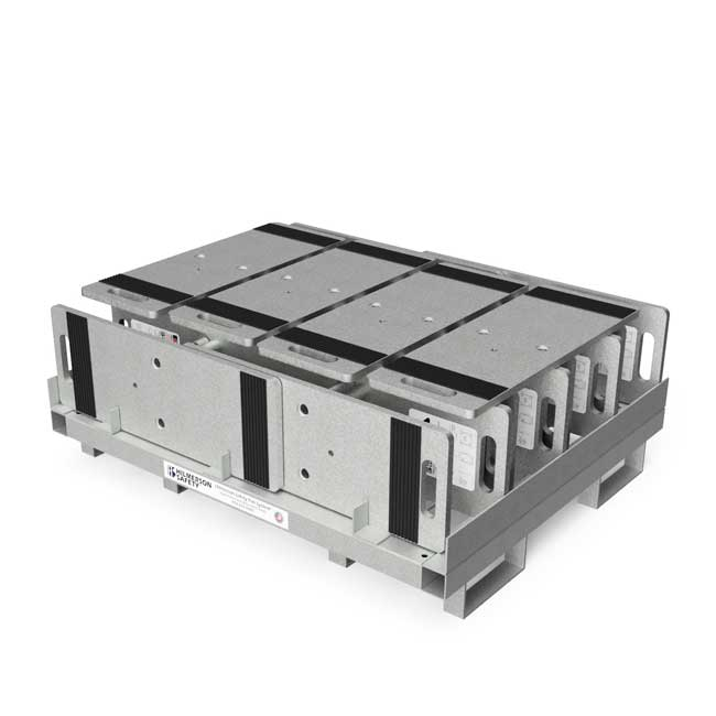 Guardrail Weighted Base Plate Storage Pallet: Capacity 20 Plates, Galvanized - Guardrail Kits and Applications Hilmerson Safety Rail System™