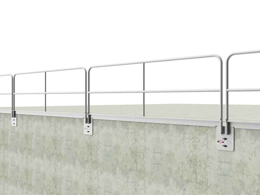 Hilmerson Safety Rail System Wall Mount Toeboard