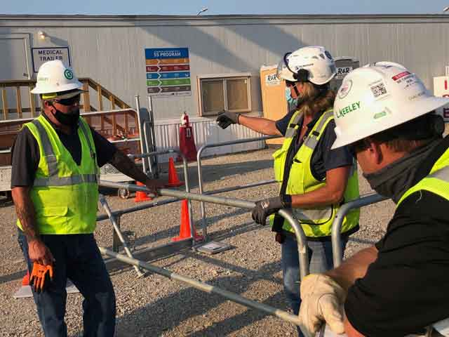 Deb Hilmerson - Construction Workers with Safety Rail System