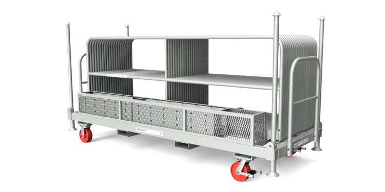Safety Rail Cart & Kit - Penetrating Guardrail Anchored Base Kit - Guardrail Kits and Applications Hilmerson Safety Rail System™