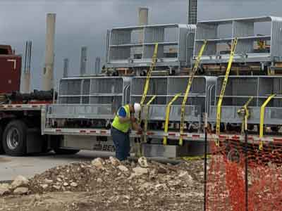 Hilmerson Safety Rail System™ at Construction Site - Easy Transportation