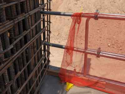 Hilmerson Safety Rail System™ at Construction Site - Rooftop Safety