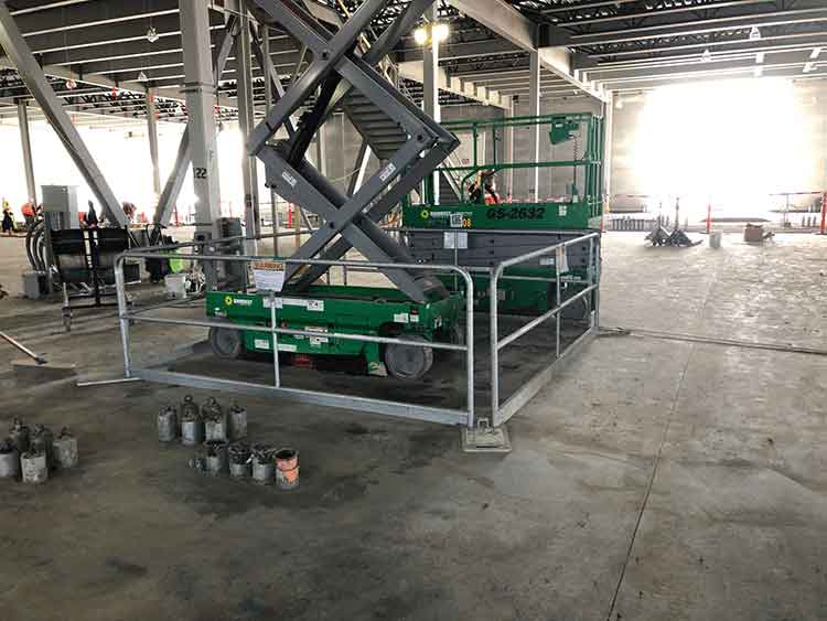 Hilmerson Safety Rail System™ at Construction Site