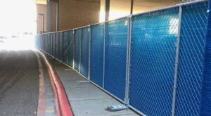 Hilmerson Free-Standing Construction Fence System™ - Robust Temporary Fencing Innovation for Construction Sites