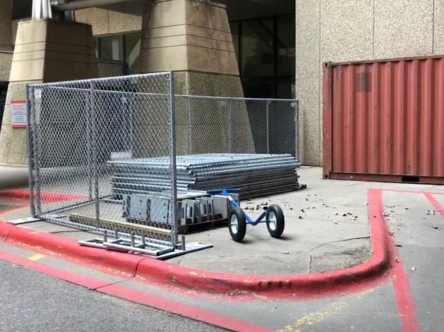 Hilmerson Free-Standing Construction Fence System™ - at Construction Site