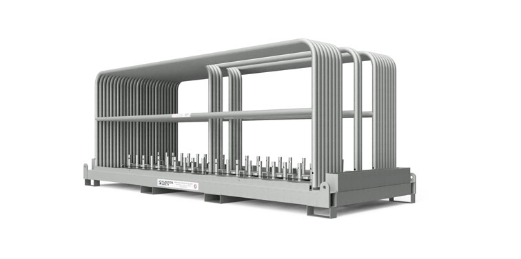 Safety Rail Rack & Kit - Non-Penetrating Guardrail Weighted Base Kit - Guardrail Kits and Applications Hilmerson Safety Rail System™