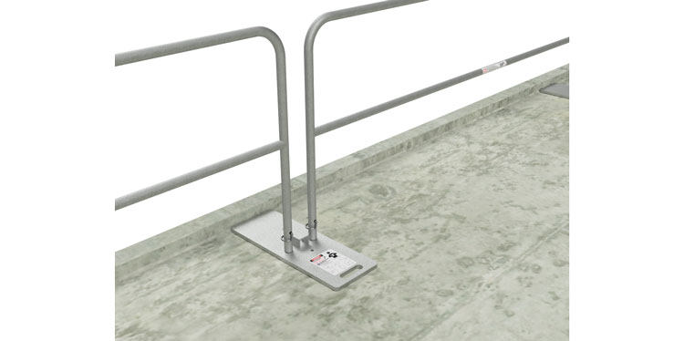 Temporary Guardrail Configurations for Leading Edges, Stairs, Slabs & Rooftops - Guardrail Kits and Applications Hilmerson Safety Rail System™