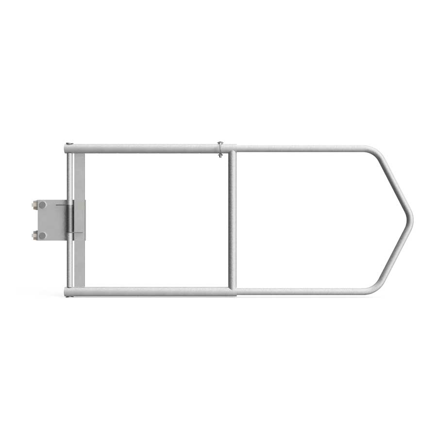 Clamp-On Adjustable Guardrail Gate: fits openings 36″ – 54″, Schedule 80 pipe - Guardrail Kits and Applications Hilmerson Safety Rail System™