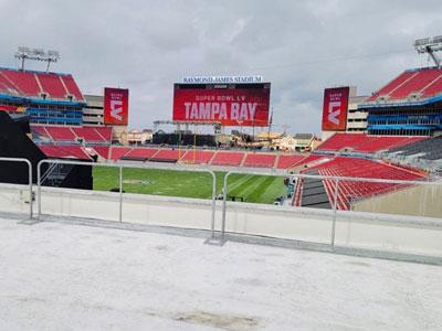 Hilmerson Safety Rail System™ - Tampa Bay Stadium